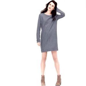 Lou&Grey striped zip neck tunic shirt dress